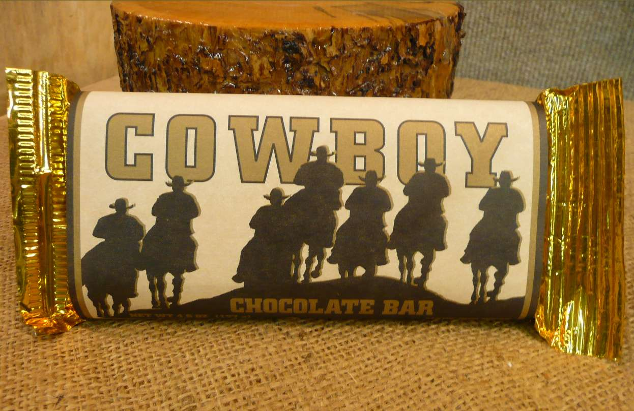 Excellent Cowboy Chocolate Bar - Leslie's Montana Shop EE84
